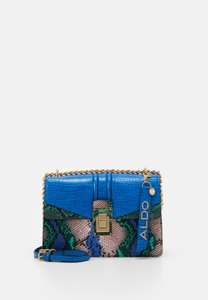 BISEGNA - Across body bag - blue/green/light gold
