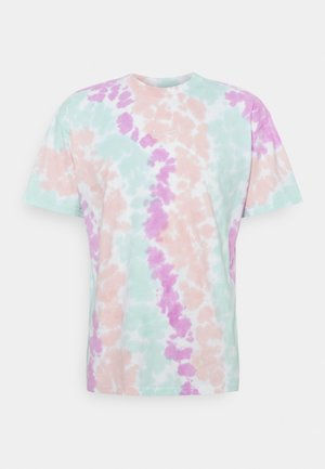 TEE WILD TIE DYE - Camiseta estampada - white/grey/light dew