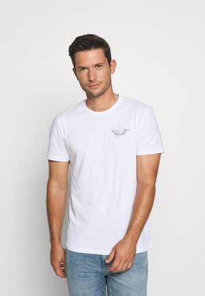 WHALE TEE - T-shirt con stampa - white
