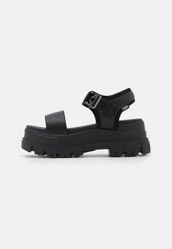 VEGAN JOJO - Platform sandals - black