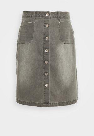 LONE SKIRT - A-line skirt - grey denim