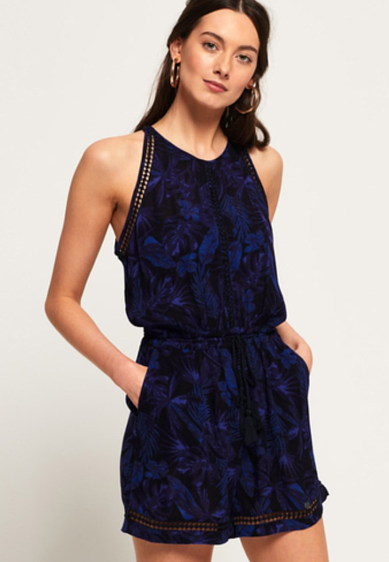 Superdry - Jumpsuit - Navy Moody Tropical