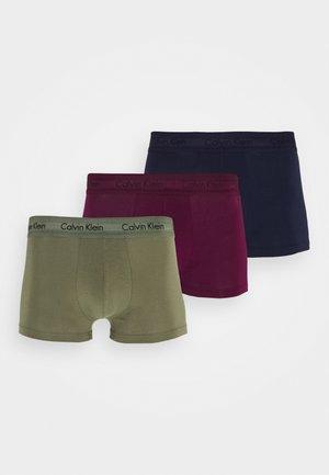 LOW RISE TRUNK 3 PACK - Underkläder - lost blue/wild fern/raisin torte
