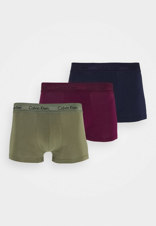 LOW RISE TRUNK 3 PACK - Onderbroeken - lost blue/wild fern/raisin torte