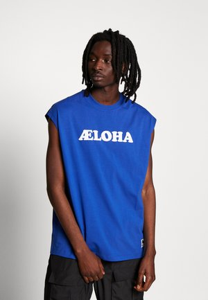 LAELOHA LOOSE - Print T-shirt - mazarine blue