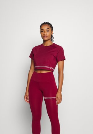 FLUX CROP TEE - Print T-shirt - red