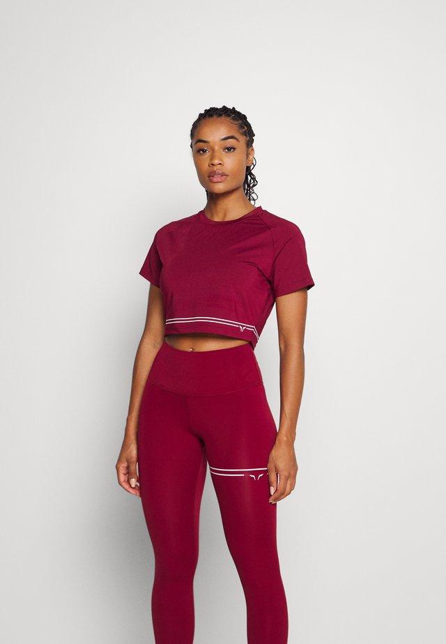 FLUX CROP TEE - T-shirt print - red