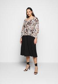 Vero Moda Curve - VMEY BELOW KNEE SKIRT - A-line skirt - black - 1