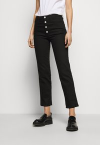 House of Dagmar - DEVINE - Straight leg jeans - stay black - 0