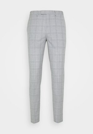 CHECK TROUSERS - Suit trousers - grey