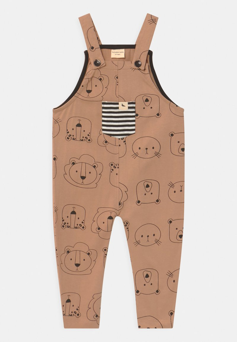Turtledove - CUB FACE EASY FIT DUNGAREES UNISEX - Mono - brown