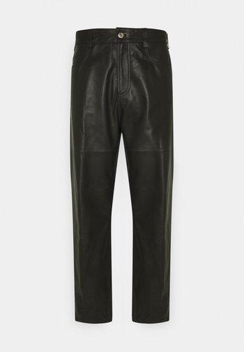 TROUSERS PANT - Kožené kalhoty - black