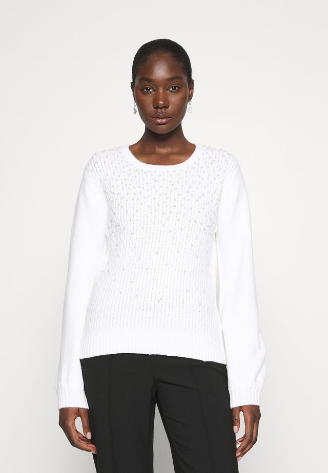 ALL OVER PEARL JUMPER - Maglione - ivory