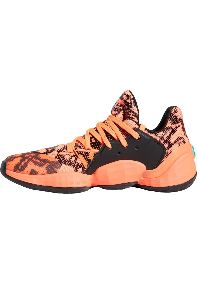 adidas Performance - HARDEN VOL. 4 BASKETBALLSCHUH HERREN - Basketball shoes - signal coral/core black