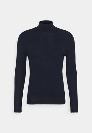 MERINO ROLLNECK - Jumper - carbon navy