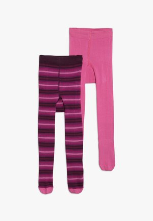 KIDSTIGHTS STRIPES UNI 2 PACK - Tights - dunkle himbeere