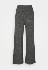 Banana Republic - WIDE LEG BRUSHED PANT - Trousers - marl heather - 0