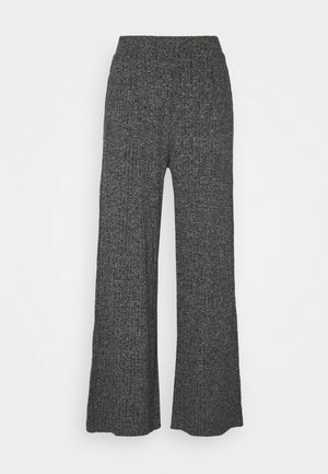 WIDE LEG BRUSHED PANT - Trousers - marl heather