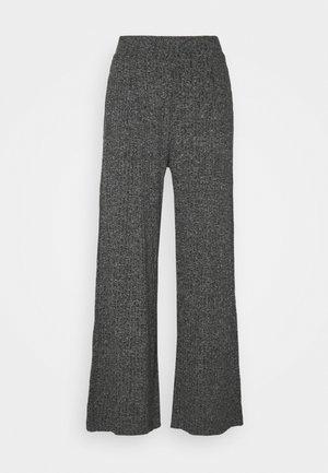 WIDE LEG BRUSHED PANT - Bukse - marl heather