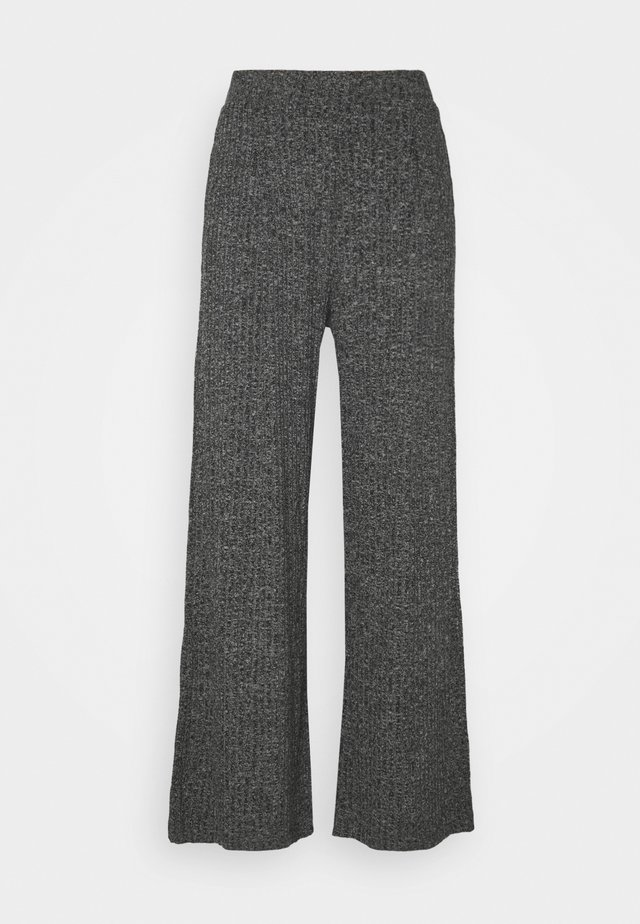 WIDE LEG BRUSHED PANT - Broek - marl heather