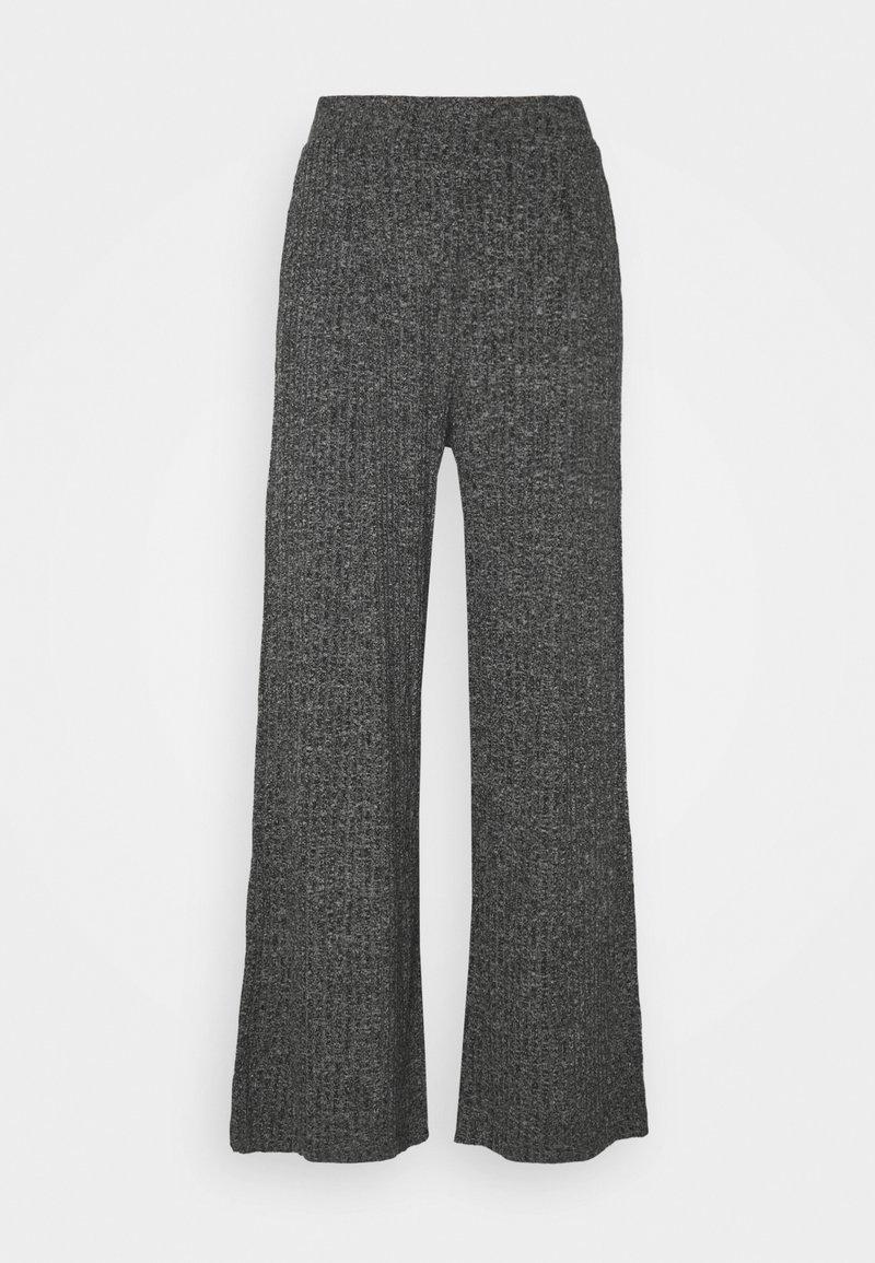 Banana Republic - WIDE LEG BRUSHED PANT - Trousers - marl heather