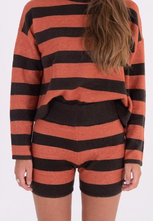 Shorts - faded rose blakc stripe