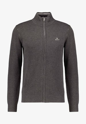 GANT HERREN STRICKJACKE - Cardigan - anthrazit