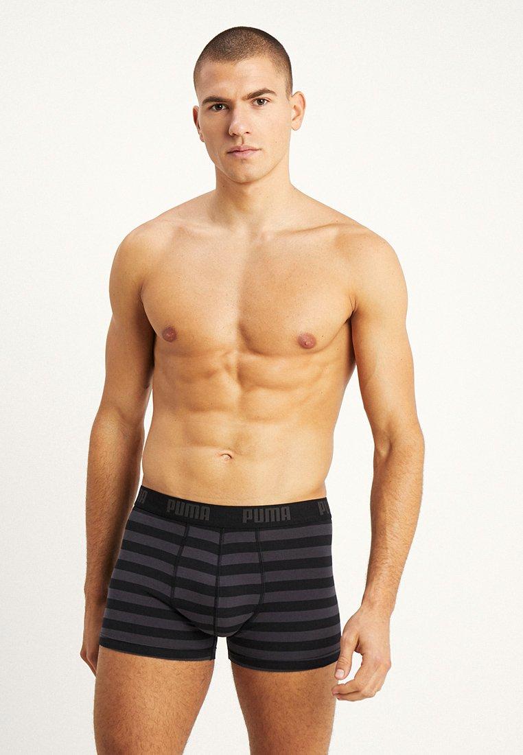 Puma - STRIPE BOXER 2 PACK - Panties - black