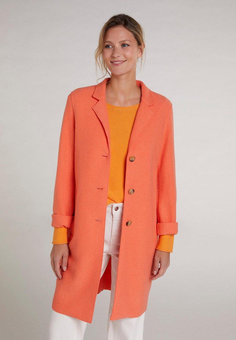 Oui - Classic coat - apricot