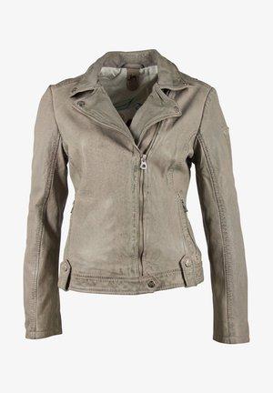 Leather jacket - grau grey