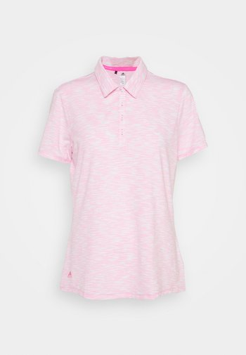 SPACEDYE SHORT SLEEVE - Polo shirt - white/screaming pink