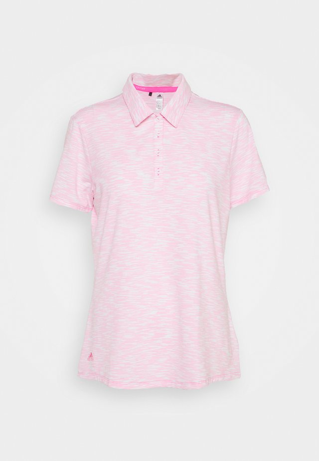 SPACEDYE SHORT SLEEVE - Poloshirt - white/screaming pink