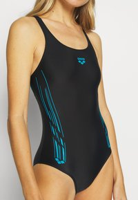 Arena - STAMP SWIM PRO BACK ONE PIECE - Swimsuit - black/turquoise - 4