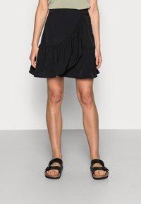 Lindex - SKIRT HILDA - Mini skirt - black - 0