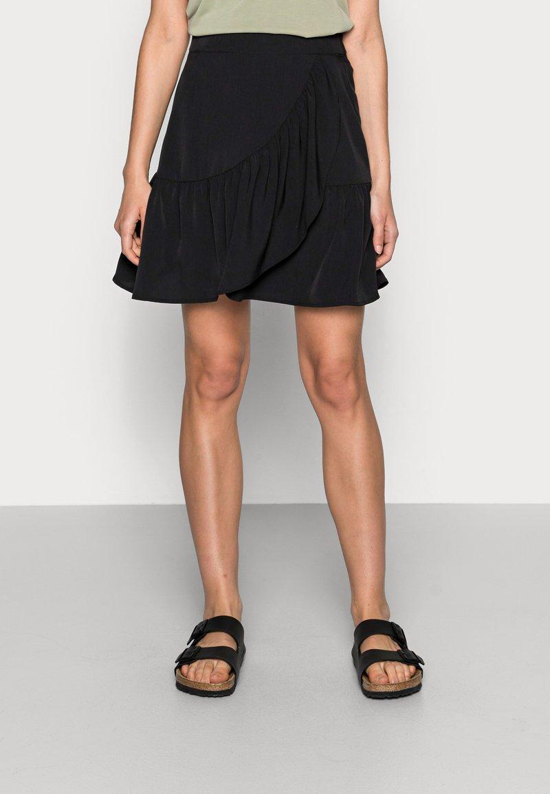 Lindex - SKIRT HILDA - Mini skirt - black