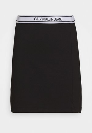 LOGO MILANO MINI SKIRT - Mini skirt - black