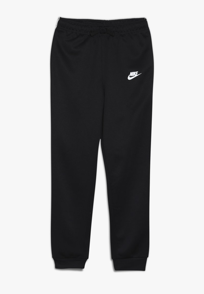 Nike Sportswear - REPEAT PANT POLY - Tracksuit bottoms - black/white