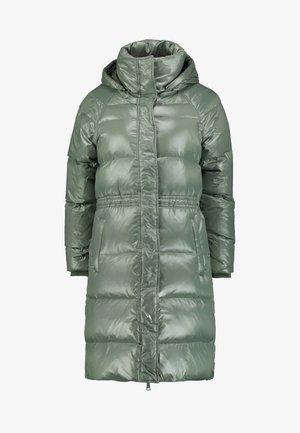 LONG PUFFER COAT - Down coat - cool olive