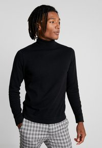 Only & Sons - ONSALEX  ROLL NECK - Sweter - black/solid - 0