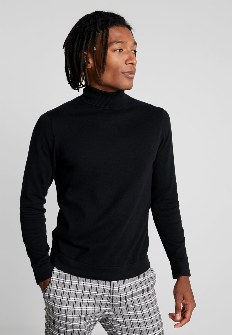 Only & Sons - ONSALEX  ROLL NECK - Sweter - black/solid