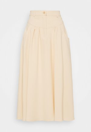 A-line skirt - macadamia brown