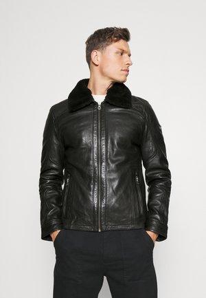 GMOYSTO - Leather jacket - black