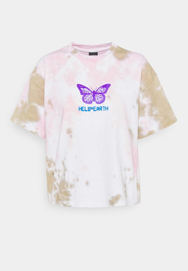 HELL ON EARTH - Print T-shirt - soft tone pink/tan