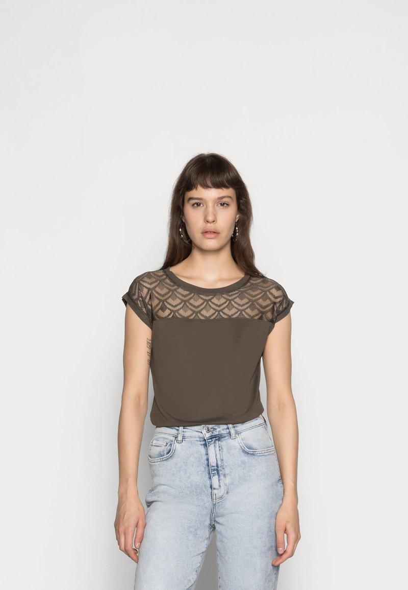 ONLY - ONLNICOLE LIFE MIX - T-shirt imprimé - crocodile