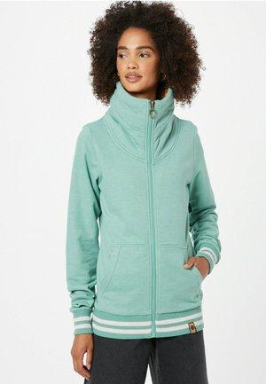 SCHLAWINERIN - Sweater met rits - grünmeliert