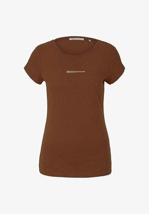 LOGO - T-shirt print - amber brown