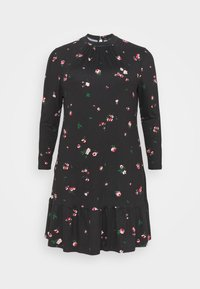 New Look Curves - MILLIE HIGH NECK TIER SMOCK - Day dress - black - 3