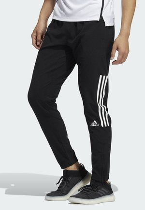 PLAYER 3 STRIPES WBR DESIGNED4TRAINING PRIMEGREEN SPORTS PANTS - Spodnie treningowe - black