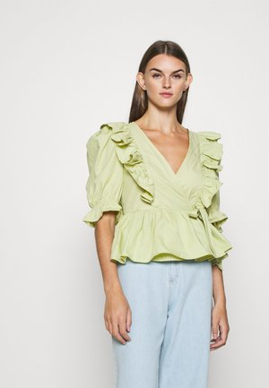 VELLA BLOUSE - Bluser - green dusty light