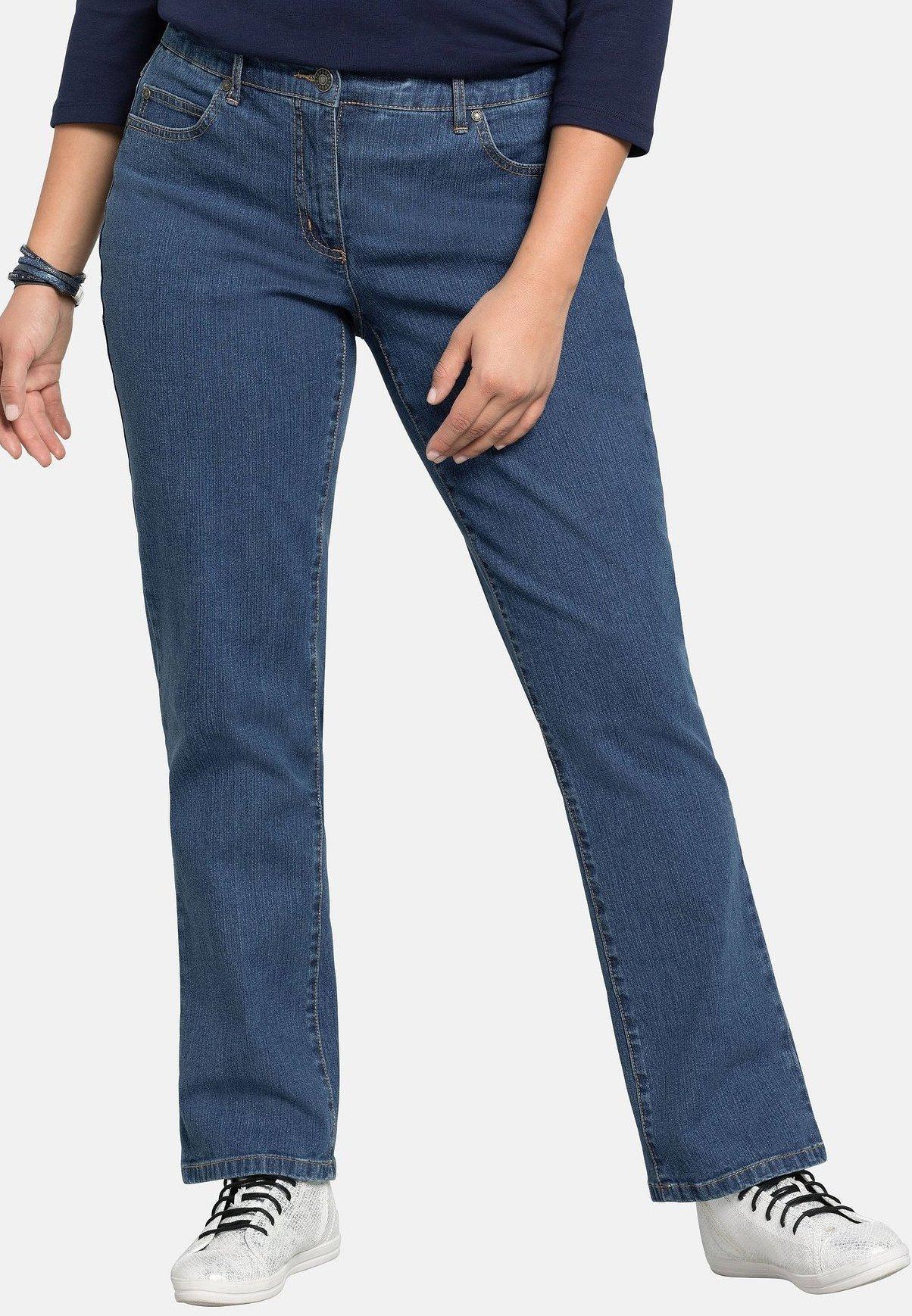 Sheego Straight leg jeans black denim Zalando.nl
